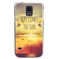 Mert Samsung Galaxy tok Minta Case Hátlap Case Látvány PC Samsung S5