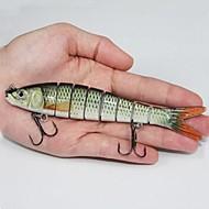 14.2cm de la venta caliente 30g cebos duros de plástico 8 Segmentos Minnow señuelos de pesca al azar color mixto (2pcs)
