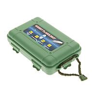 Ochronną z tworzywa sztucznego odpornego na wstrząsy latarka Case - Army Green