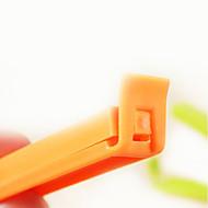 el color del caramelo de plástico clip de sellado (5 x, color al azar)