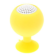 Wine Glass Shape Portable Rechargeable Yellow Mini Speaker with Suction Cup for iPhone/iPad (3.5mm/ 5V)