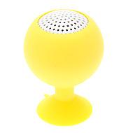 Wine Glass Shape Portable Rechargeable Gul Mini høyttaler med sugekopp for iPhone / iPad (3.5mm / 5V)