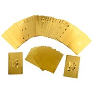 Durable Waterproof Plastic Playing Cards Gold Foil Poker Golden Poker Cards 24K Gold-Foil Plated Poker