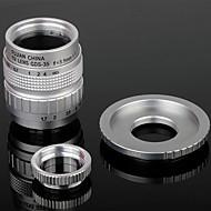 35mm F1.7 CCTV Lens + Macro Rings + C-NEX Adapter Ring Set for Sony NEX-5C NEX-7 etc - Silver