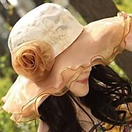 Femeii Fashion Flower Lace Floppy Hat