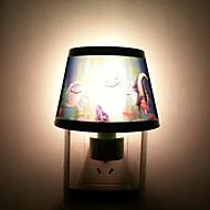 5-10W pesce pattern Green Plastic LED Night Light (AC110-240V)