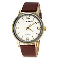 Men's Business Style Leather Band Quartz Wrist Watch (Assorted Colors)