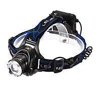 Headlamps LED 3 Mode 1200 Lumens Adjustable Focus / Waterproof / Rechargeable / Self-Defense Cree XM-L T6 18650 Multifunction - Others