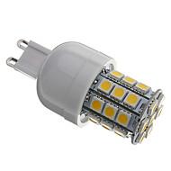 G9 3.5 W 30 SMD 5050 330 LM Warm White T Corn Bulbs AC 110-130 / AC 220-240 V