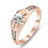 Gyűrűk Esküvő / Parti / Napi Ékszerek Kocka cirkónia / Arannyal bevont Női Vallomás gyűrűk6 / 7 Aranyozott