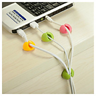 Desktop Wire kiinnityspuristimen (4PCS, Random Color)