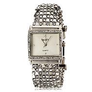 아가씨들 팔찌 시계 캐쥬얼 시계 일본 쿼츠 모조 다이아몬드 석영 밴드 우아한 실버