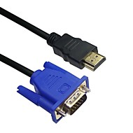 LWM™ Premium HDMI Male to VGA Male Cable 10Ft 3M for High Quality Video Transmission