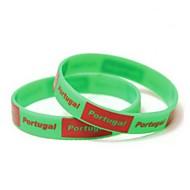Motif de drapeau du Portugal Coupe du monde 2014 Silicone Wrist Band