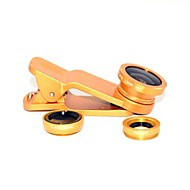 Clip Universal Fisheye/ Wide Angle/ Macro Lens for Universal Mobile Phone