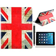 Union Jack Pattern PU Leather Full Body Case with Stand and A Stylus Touch Pen for iPad Air