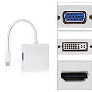 neliö mini dp Thunderbolt dvi vga hdmi HDTV-sovittimen 3 in 1 Apple MacBook Air Pro iMac