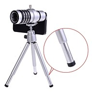 12X Detachable Optical Zoom Telephoto Lens with Hard Case and Tripod for iPhone 5/5S