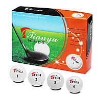 1 Box 12 Pcs Bolas de golfe Two-Piece-Ball Distância Balls