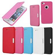 matte ontwerp magnetische gesp full body case voor de iPhone 4 / 4s (verschillende kleuren)