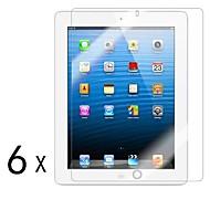 [6-Pack] de alta qualidade escudo invisível Smudge Protetor de Tela Prova para iPad 2/3/4