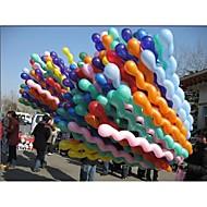 Moda 100pcs/pack giganti di gomma Elio spirale Lattice Palloncini Matrimonio festa di compleanno decorazione di palla