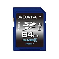 ADATA 64GB UHS-I U1 / Clase 10 SD/SDHC/SDXCMax Read Speed55 (MB/S)Max Write Speed33 (MB/S)