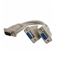 VGA maschio a 2 Dual VGA SVGA video femminile sdoppiatore Monitor Cable