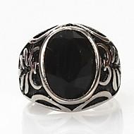 Ringer Daglig Smykker Titanium Stål uttalelse Ringe7 8 9 10 11 Svart
