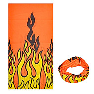 KORAMAN Summer Hot Flame Red Cycling Sun-Proof Magic Scarf Headband