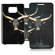 Elk Pattern Leather Full Body Case for Samsung Galaxy S2 I9100