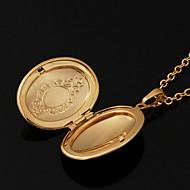 Modische Halsketten vergoldet Medaillons Halsketten Schmuck Hochzeit Kupfer / vergoldet Goldfarben Geschenk
