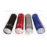 Mini Aluminum 9 LED Flashlight (80Lm3xAAA, Random Color)