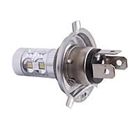 H4 60W 12x LED SMD 650lm 6500K Beyaz Işık Araba Foglight Far (DC12-24V) için LED