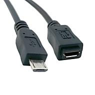 fuld pin tilsluttet micro USB 2.0 typen 5pin mandlige og kvindelige kabel til tablet& telefon& MHL& OTG udvidelse 1.5m 4.5ft