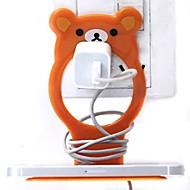 Little Bear Shaped Plastic Cell Phone Charge Holder (Random Color) x 1 PCS