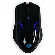 Qisan Crotalus 2.4GHz 2000DPI 6 Painikkeet Sininen LED Wireless Professional Gaming Mouse-Musta