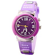 Children Round Dial PU Band Quartz Colorful Back Light Wrist Watch 30m Waterproof (Assorted Colors) Cool Watches Unique Watches Fashion Watch