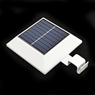 4-LED Solar Powered Fence Gutter Light Yard Garden Wall Lobby Pathway Lamp with PIR Motion Sensor