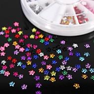 Paznokci cyrkonie 600pcs kształt kwiatu 12colours akrylowe koła sztuka dekoracji
