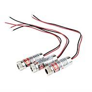 Cabeza DIY HLM230 5mW 650nm enfocable láser rojo - 3 piezas (4,5-5V)