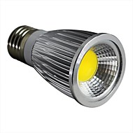 7W E26/E27 LED Spotlight 1 COB 600LM lm Warm White Dimmable AC 100-240 V