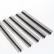 2.54mm 2x40 pin kaksirivinen koneistettuja pin header-liitin (5-osainen pakkaus)