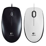 Logitech M100R Wired Optical Mouse 1000dpi (Assorted Colors)