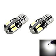 t10 2W 8x5730 SMD LED 100lm 6000k kühlen weißen Lichtkuppel Leselampe für Seitenmarkierungs Auto (DC 12V, 2er-Pack)