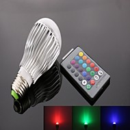 E26/E27 10 W 9 High Power LED 950 LM RGB A50 Remote-Controlled Spot Lights AC 85-265 V