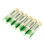 BTY 3000mAh AA Ni-MH Rechargeable Battery 6pcs