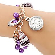 Damskie Zegarek na bransoletce Kwarcowy Stop Pasmo Perły Purpurowy Purple