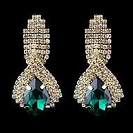 Kolczyki wiszące Kryształ Szkło White Green Niebieski Biżuteria Na Ślub Impreza Codzienny Casual