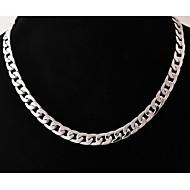 Férfi Nyakláncok Rozsdamentes acél Titanium Acél Ékszerek Egyedi Divat Ezüst Ékszerek Esküvő Parti Napi Hétköznapi Karácsonyi ajándékok